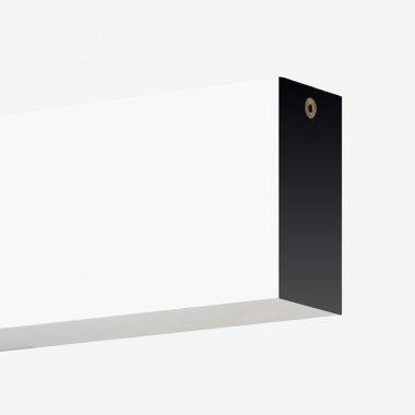 Stropní a nástěnné svítidlo LUCIS IZAR III 11,7W LED 3000K akrylátové sklo černá I3.L13.900.93
