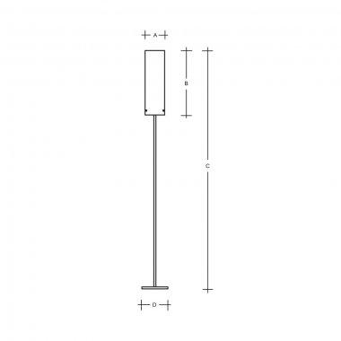 Stojanové svítidlo LUCIS MAIA 1x150(116)W E27 sklo bílá opál LB1850.11.M500-1