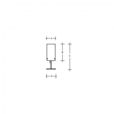 Stolní svítidlo LUCIS MAIA 1x150(116)W E27 sklo bílá opál LB700.11.M500-1