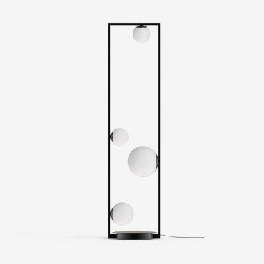 Stojanové svítidlo LUCIS PALA 1x60W + 1x48W + 2x33W G9 sklo černá opál LR.11.P4.45M