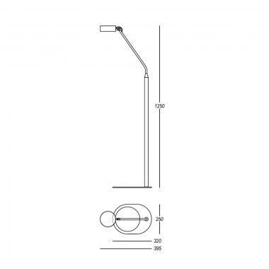 Stojanové svítidlo LUCIS OMNIA 7,9W LED 3000K černá O.1250.L1.61-2