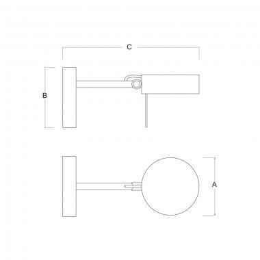 Nástěnné svítidlo LUCIS OMNIA 7,9W LED 3000K akrylátové sklo bílá O.150.K1.60-2