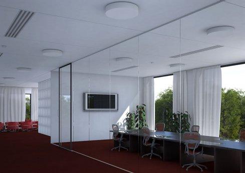 Stropní a nástěnné svítidlo LUCIS ZERO IP44 23,4W LED 3000K sklo opál PS13.K13.Z500-2