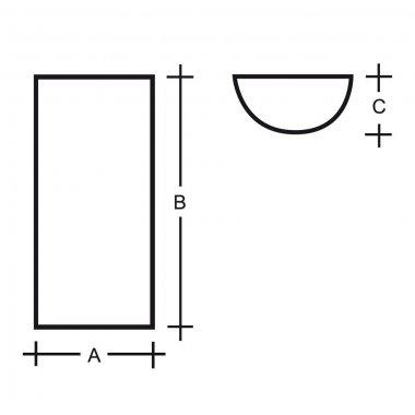 Nástěnné svítidlo LUCIS MAIA PMMA 2x60W E14 akrylátové sklo opál S1.112 W PA-1