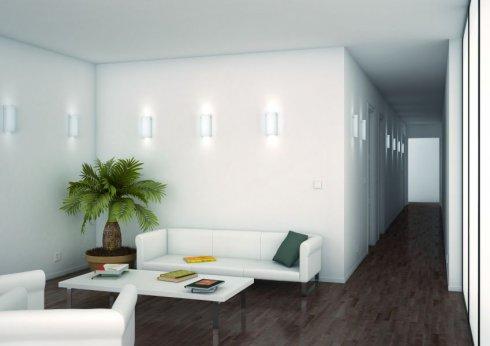 Nástěnné svítidlo LUCIS MAIA PMMA 2x60W E14 akrylátové sklo opál S1.112 W PA-2