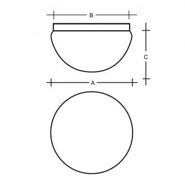 Stropní a nástěnné svítidlo LUCIS LEDA 1x75(57)W E27 sklo opál S19.111.JS22-1