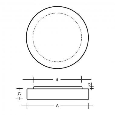 Stropní a nástěnné svítidlo LUCIS ZERO 1x100(77)W E27 sklo opál S24.11.Z280-1