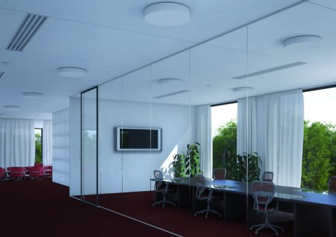 Stropní a nástěnné svítidlo LUCIS ZERO 9,8W LED 4000K sklo opál S29.K14.Z330 DALI-2
