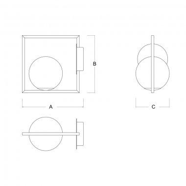 Stropní a nástěnné svítidlo LUCIS PALA 1x60W G9 sklo opál SR.11.P1.45M-1