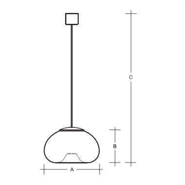 Závěsné svítidlo LUCIS PIA 4W LED 3000K sklo bílá opál ZK1.L1.P150-1