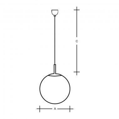 Závěsné svítidlo LUCIS POLARIS ZK 34,4W LED 4000K sklo chrom opál ZK.P2.500.80 DALI-2