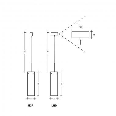 Závěsné svítidlo LUCIS MAIA PMMA 36,1W LED 3000K akrylátové sklo bílá opál ZKS.L13.M500 PA-1