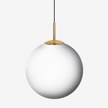 Závěsné svítidlo LUCIS POLARIS ZKS 16,5W LED 4000K sklo mosaz opál ZKS.L4.400.84
