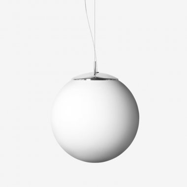 Závěsné svítidlo LUCIS POLARIS ZL PE 1x200(140)W E27 plast chrom opál ZL1.11.500.80 PE