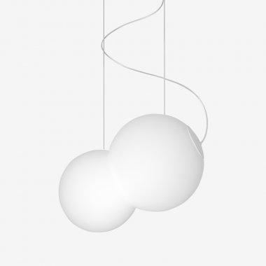 Závěsné svítidlo LUCIS BAUBAU 1x max 100(77)W E27 sklo bílá opál ZL2.11.B480