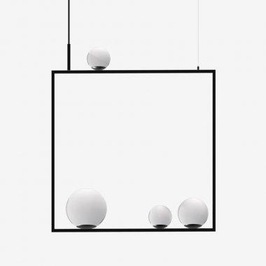 Závěsné svítidlo LUCIS PALA 1x60W + 1x48W + 2x33W G9 sklo černá opál ZL2.11.P4.45