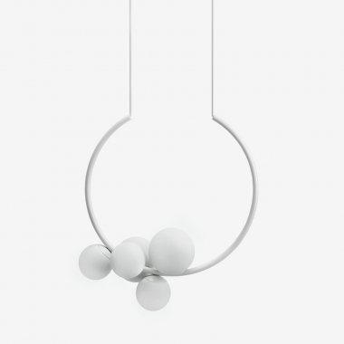 Závěsné svítidlo LUCIS OHM 3x33W + 2x48W G9 sklo bílá opál ZL2.15.O55.60