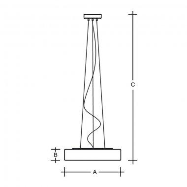 Závěsné svítidlo LUCIS ZERO 40,6W LED 3000K sklo šedá opál ZL3.K11.Z600-1