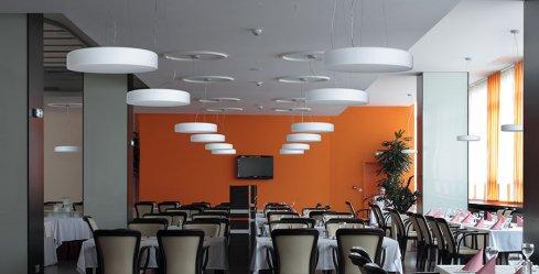 Závěsné svítidlo LUCIS ZERO 40,6W LED 3000K sklo šedá opál ZL3.K11.Z600-2