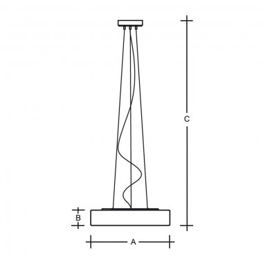 Závěsné svítidlo LUCIS ZERO 34,8W LED 4000K sklo šedá opál ZL3.K12.Z500-1