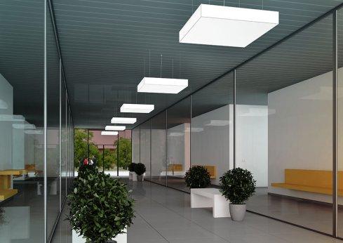 Závěsné svítidlo LUCIS IZAR B MAX 102W LED 4000K akrylátové sklo bílá ZL4.IB.L12.900M.91 DALI-1