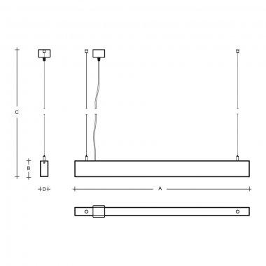Závěsné svítidlo LUCIS IZAR III 19,5W LED 3000K akrylátové sklo černá ZLI3.L13.1500.93-1