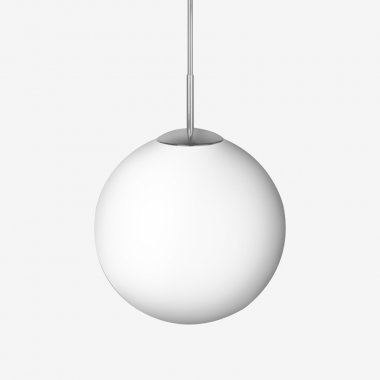 Závěsné svítidlo LUCIS POLARIS ZT PE 1x150(116)W E27 plast nerez opál ZT.11.400.83 PE
