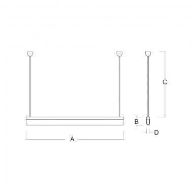 Závěsné svítidlo LUCIS AULA ZT 40W LED 3000K akrylátové sklo šedá ZT.AU1.L11.1500.47-2