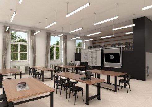 Závěsné svítidlo LUCIS AULA ZT 32W LED 4000K akrylátové sklo mosaz ZT.AU1.L12.1200.74 DALI-3