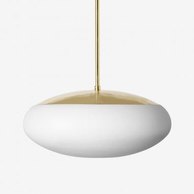 Závěsné svítidlo LUCIS DAPHNE ZT 34,6W LED 4000K sklo argento dorato opál ZT.L2.D450.70