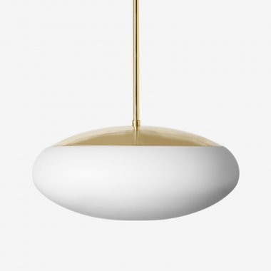 Závěsné svítidlo LUCIS DAPHNE ZT 23W LED 4000K sklo chrom opál ZT.L6.D450.80