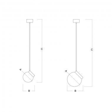Závěsné svítidlo LUCIS POLARIS ZTR 7,9W LED 4000K sklo černá opál ZTR.L2.280.45-2