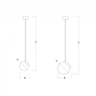 Závěsné svítidlo LUCIS POLARIS ZTR 7,9W LED 4000K sklo mosaz opál ZTR.L2.280.74-2