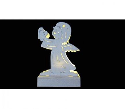 Dřevěná dekorace anděl LED MA31066