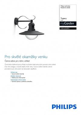 Venkovní svítidlo nástěnné LED 01816/30/PN-1