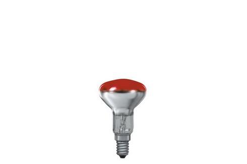 Reflektorová žárovka R50 25W E14 červená