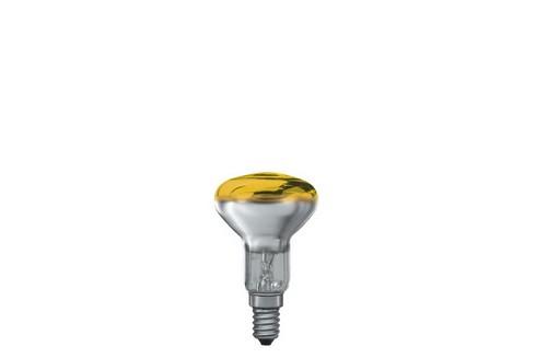 Reflektorová žárovka R50 25W E14 žlutá