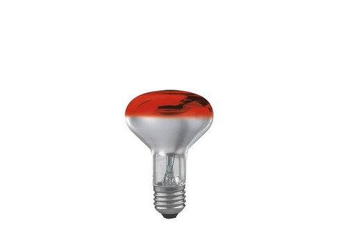 Reflektorová žárovka R80 60W E27 červená