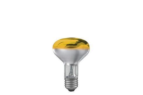 Reflektorová žárovka R80 60W E27 žlutá
