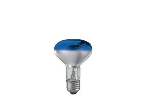 Reflektorová žárovka R80 60W E27 modrá