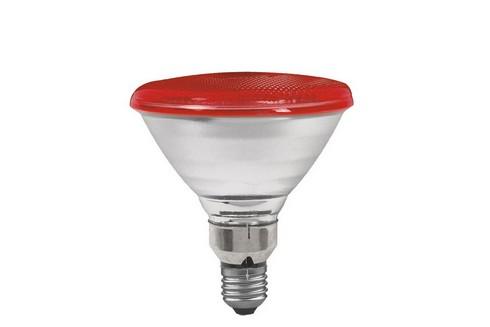 Reflektorová žárovka PAR38 80W E27 červená
