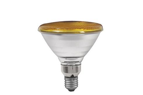 Reflektorová žárovka PAR38 80W E27 žlutá