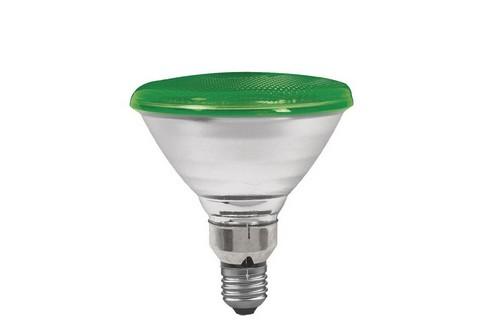 Reflektorová žárovka PAR38 80W E27 zelená