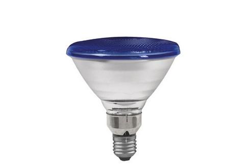 Reflektorová žárovka PAR38 80W E27 modrá