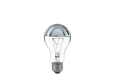 Klasická žárovka 100W E27 stříbrná