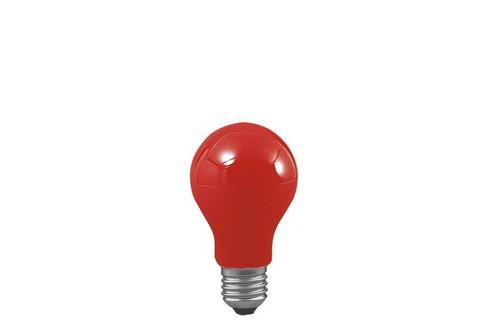 Klasická žárovka 25W E27 červená