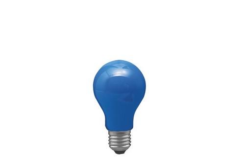 Klasická žárovka 25W E27 modrá