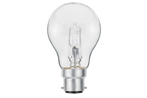 Klasická žárovka Halogen 42W B22d čirá