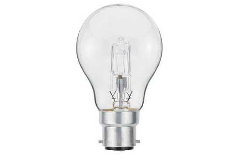 Klasická žárovka Halogen 70W B22d čirá