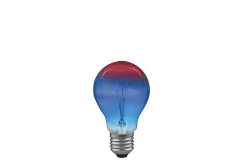 Klasická žárovka 25W E27 105mm červená/modrá